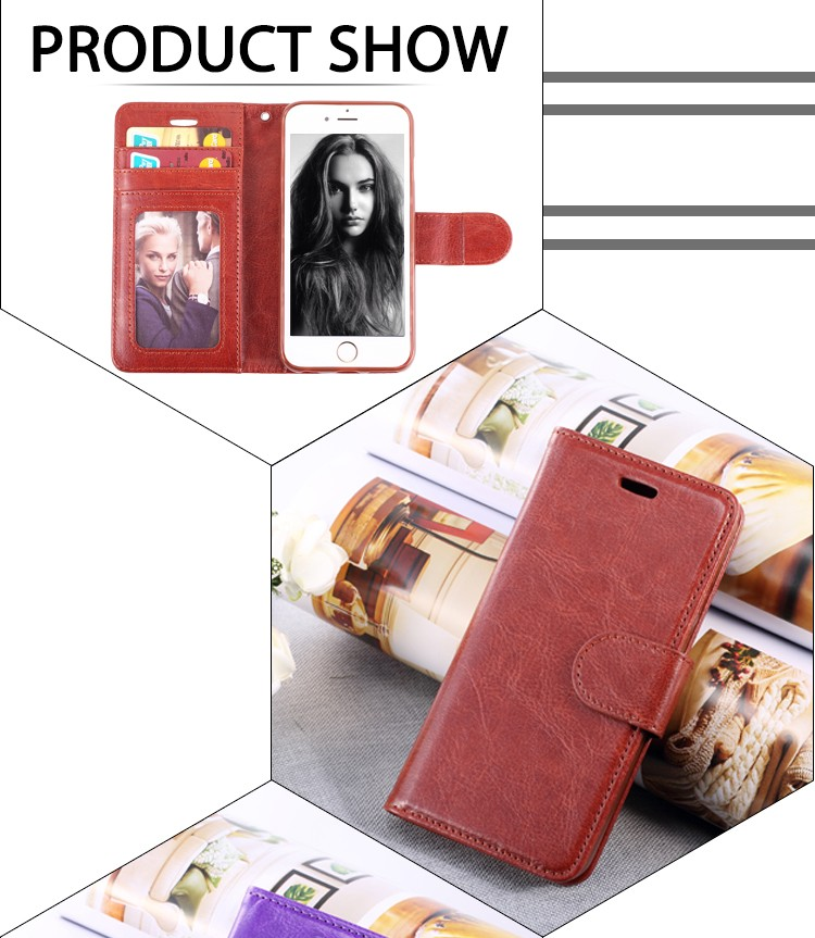 ~Luxury Retro Leather Mobile Phone Case For iPhone 6 6s 4.7 inch Vintage Flip Cover Wallet  Photo Frame With Card Holder IDOOLS