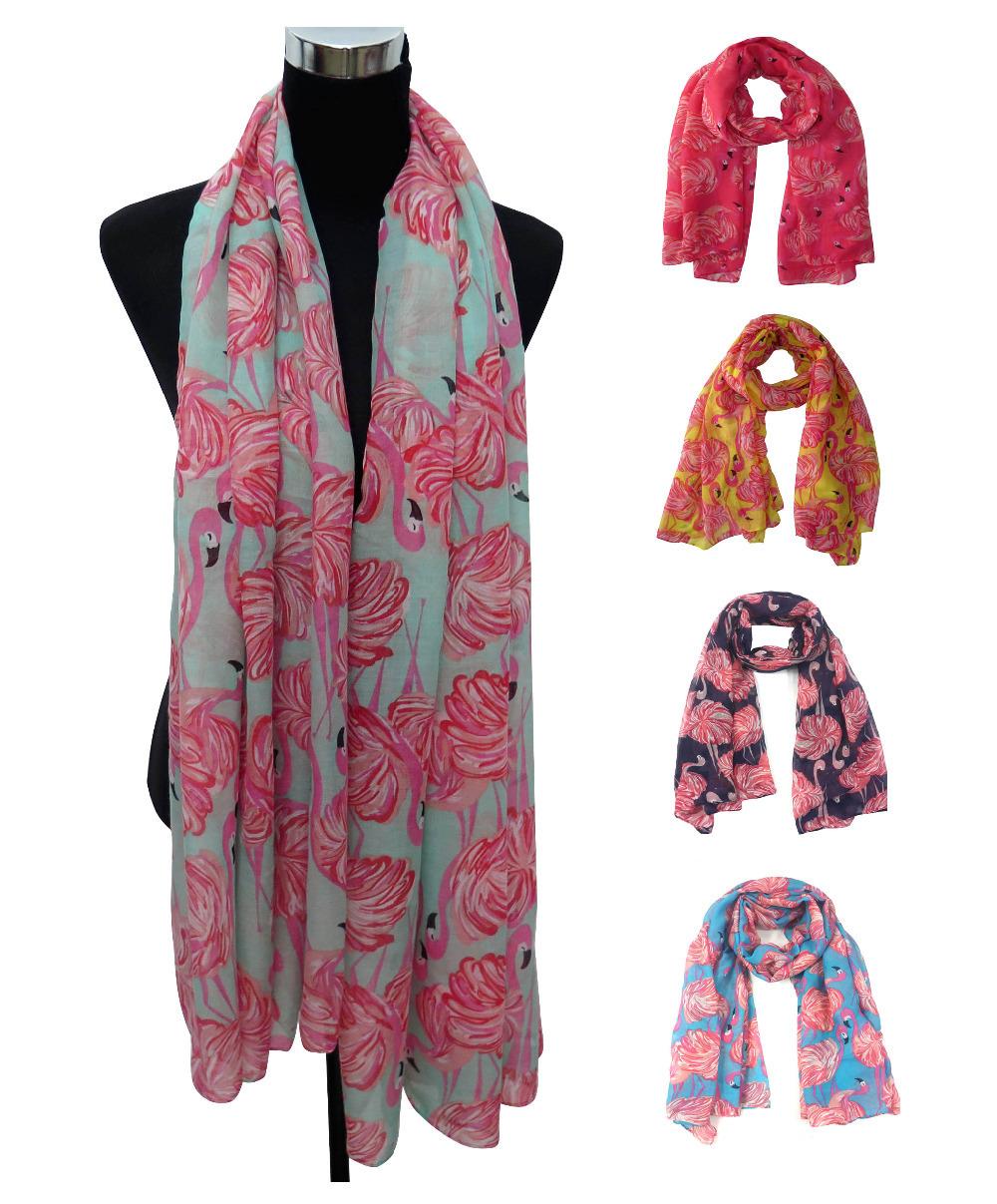 Vintage Flamingo Print Women's Large Scarf Shawl Wrap Gift, Free Shipping(China (Mainland))