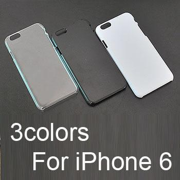 3Colors Crystal Case iPhone 6 Plus 4.7 inch Clear Transparent Back Protector Black Hard Skin White Cover Rhinestone Pasted - iTrimming store