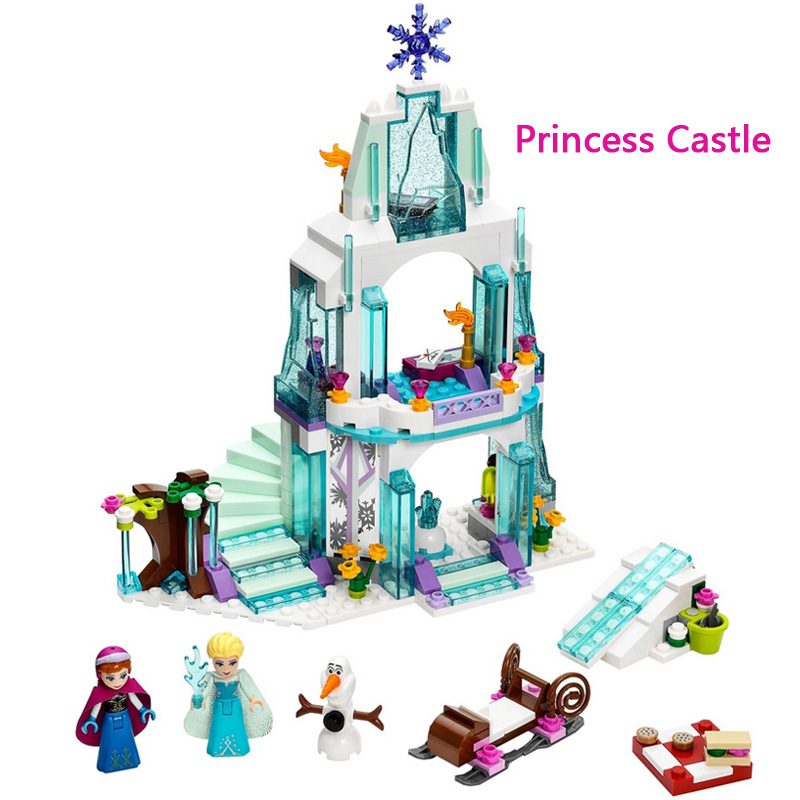 Friends Princess Sparkling Ice Castle Girl Building Blocks Toy Bricks Child Girls Toys gifts Compatible Legoelieds(China (Mainland))