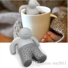 2015 Teapot cute Mr Tea Infuser Tea Strainer Coffee Tea Sets silicone fred mr tea Silicon
