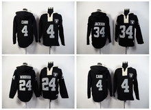 100% Stitiched,Oakland Raiders Derek Carr Marcus Allen Bo Jackson Charles Woodson Sweater hoodies(China (Mainland))