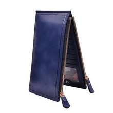 New Fashion Women Phone Bags Double Zippers Purses Women Wallets Leather Clutch Women Money Clip Lady Purses(China (Mainland))