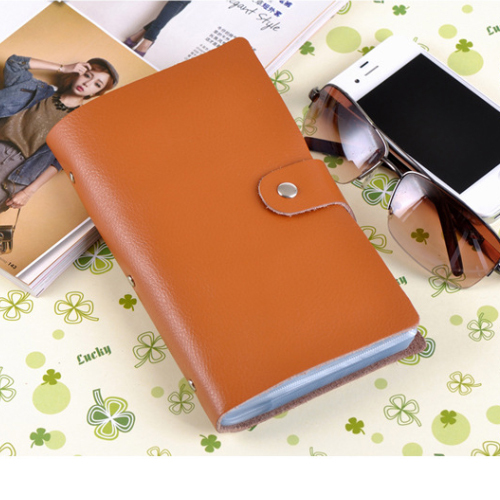 90 Slots Genuine Leather Business Credit Card Holder Case Women Men card holder wallet Card Package