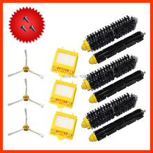 HEPA Filter,3-Armed Side Brush,Bristle & Flexible Beater Brush & Screw for iRobot Roomba 700 770 780 790 Cleaner Brush Filter(China (Mainland))
