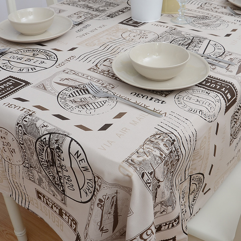 After shipping the Nordic postmark nostalgic British English trade cotton tablecloth table cloth modern export(China (Mainland))