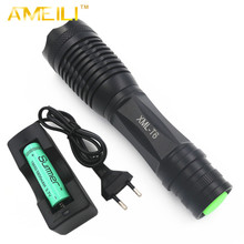 Cree XML T6 ZOOM 6000 lumens 18650 or AAA Zoomable LED Flashlight,torch,self defense,camping light,lamp+18650 battery+charger(China (Mainland))