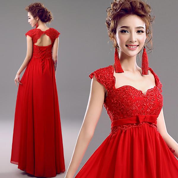 Z 2015 recién llegado de stock de maternidad más tamaño vestido de novia vestido de noche embarazada larga de encaje rojo de la .