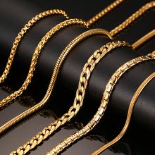 Мода Серебряный и Золотой Цвет Цепь Ожерелье Для Мужчин Женщины Из Нержавеющей Стали Змея Цепи Ожерелье Оптовая Сеть Индивидуальным Ювелирных Изделий(China (Mainland))