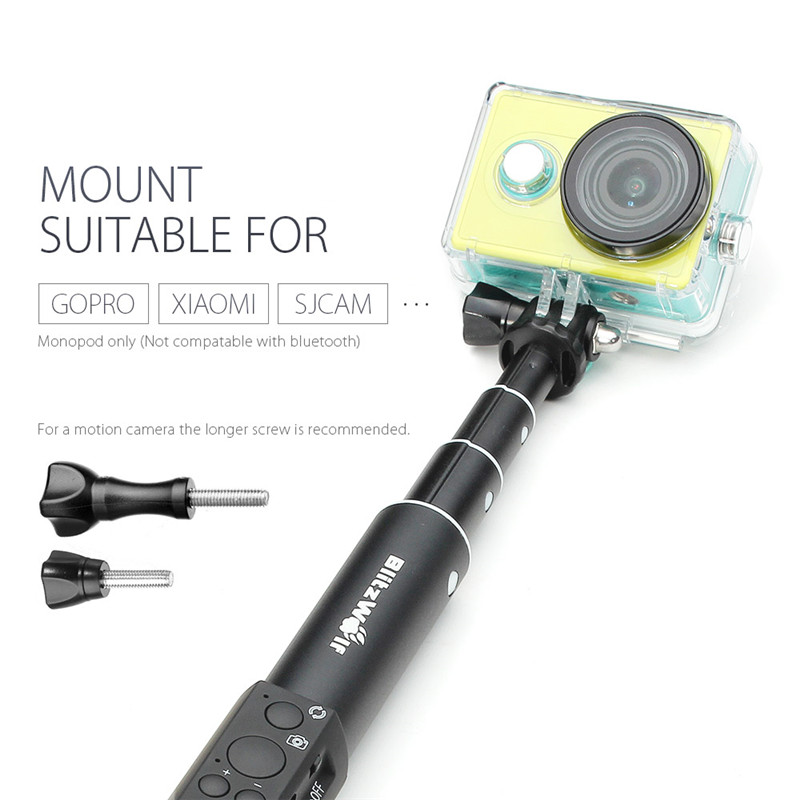 image for BlitzWolf Extendable Bluetooth Wire Wireless Selfie Sticks Monopod Uni
