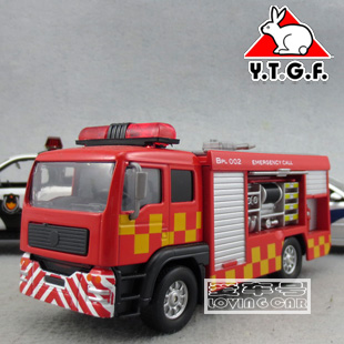 Acousto optic version 911 British fire truck / train / aerial ladder truck back of the car model(China (Mainland))