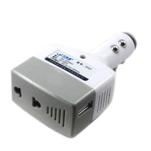 qc023 Free shopping 1pcs car inverter power converters,mobile phone charger with USB port 12v / 24v to 220v / 500mA/ 5W inverter