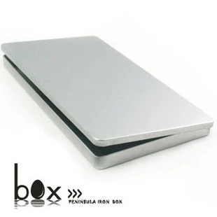 5pcs 23*12*1.2cm Hinged Tin Box for Bills Envelopes Large rectangle muji silver plain metal storage case for office stationery(China (Mainland))