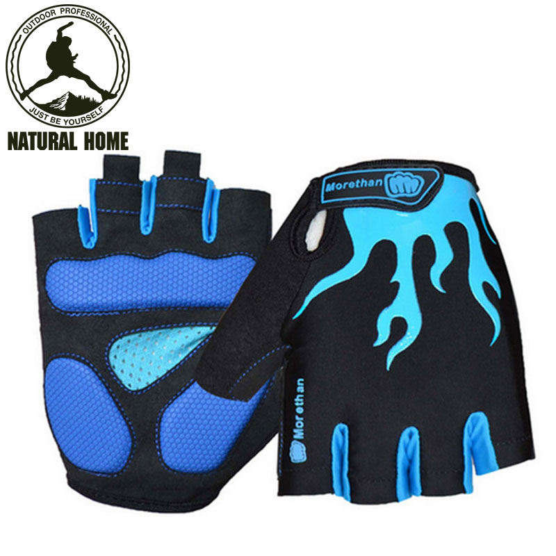 [NaturalHome] Brand Outdoor Sports Gloves Cycling Biking Bicycle Gel Bicycle Golve Half Finger Gloves Guantes Ciclismo Luvas(China (Mainland))