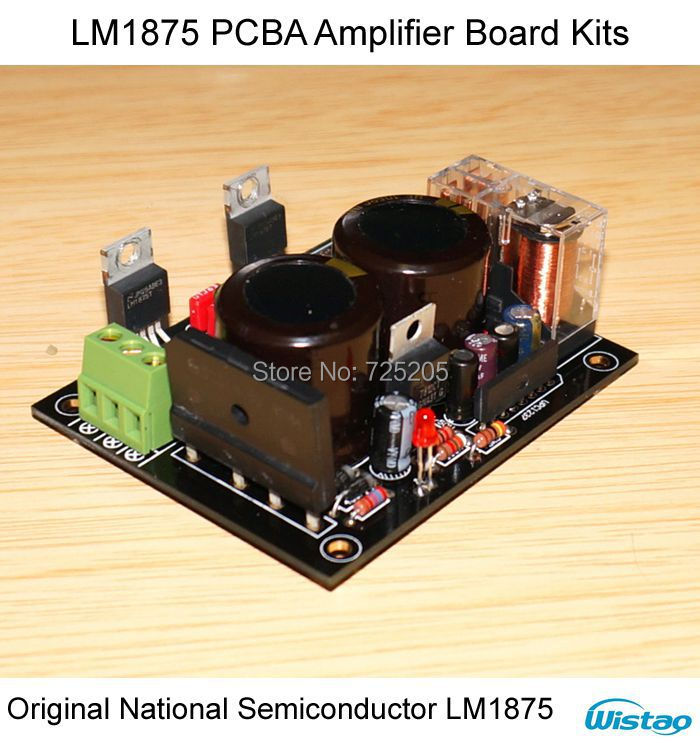 LM1875 PCBA Amplifier Board Kits with Protection Circuit Dual 12V to 22V No Including Heat Sink HIFI Audio DIY<br><br>Aliexpress