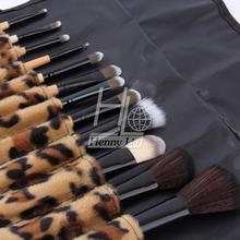 2015 Professional Makeup kits 12 PCs Brush Cosmetic Facial Make Up Set tools With Leopard Bag makeup brush tools hot sales