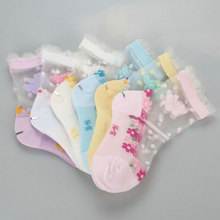 Girls Socks for Children Kids Mesh Style Baby Socks with Trendy Elastic Lace Flowers Summer New Arrival Wholesale 6 Pairs/Lot(China (Mainland))