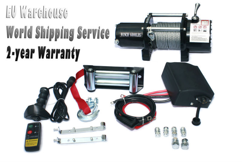 Electric Car Winch for Rolling Stock Wireless Remote Control Oversea