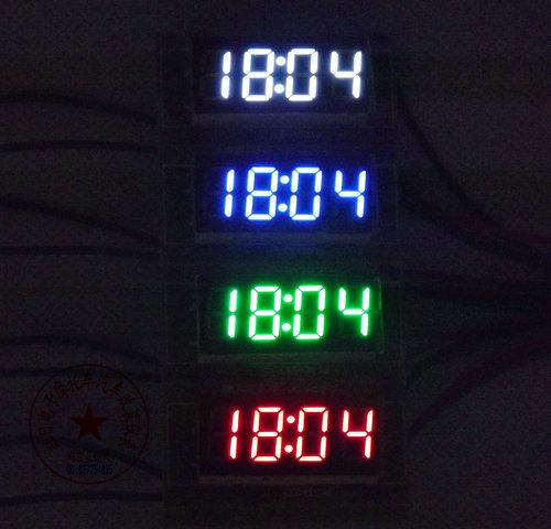 car styling car electric timer clock LED diy new vehicle electronic clock luminous digital electronic clock control car(China (Mainland))