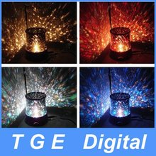 Amazing LED Star Beauty Starry Sky Master Dreamlike Colorful Night Light Projector Lamp Space Solar System with Power Adapter(China (Mainland))
