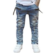 2017 New Solid Mid Jeans Kids Clothes Rushed Summer Light-colored Boys Jeans For Kids Children Trousers Spring Korean Version(China (Mainland))