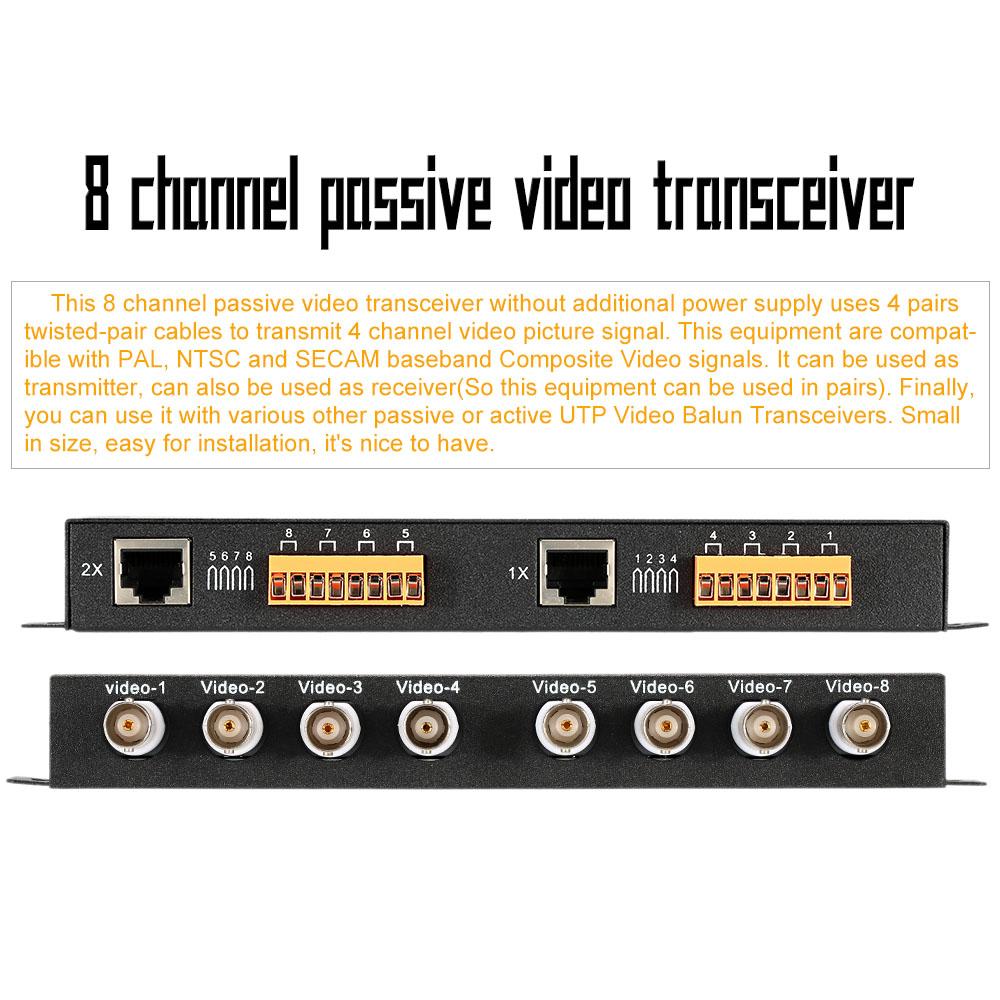 CCTV BNC Passive Video Balun 8 Channel No Power Transceiver Surveillance Equipment Accessories(China (Mainland))