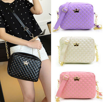 Women Bag Fashion Women Messenger Bags 2015 Rivet Chain Shoulder Bag High Quality PU Leather Crossbody(China (Mainland))