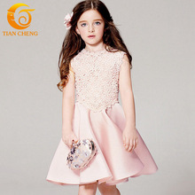 New Sleeveless Girls Dress 2016 Summer Fashion Gowns For Teenagers 3-12 Dresses Baby Girl Kids Princess Dress For Teenagers