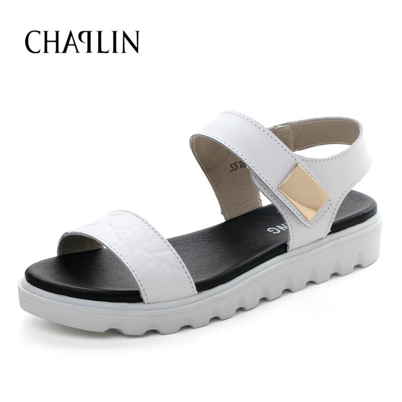 Leisure Women Shoes Low Heels Sandals For The Daily Walk Shopping Three Colors To Choose Black White And Light blue 5518