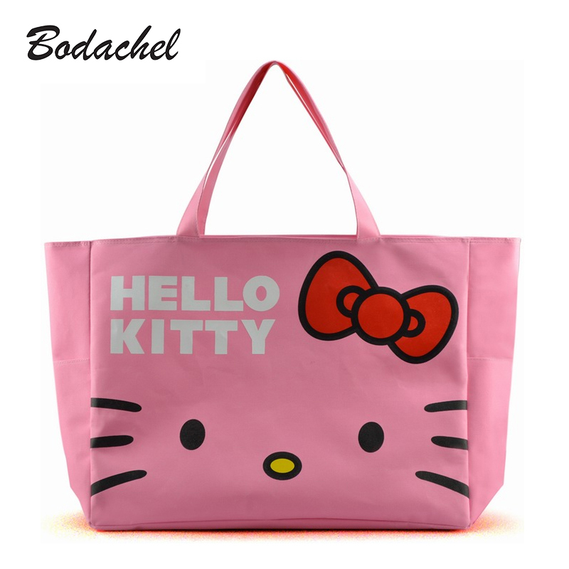 The new Hello Kitty large shopping bag lovely handbags waterproof canvas bag<br><br>Aliexpress