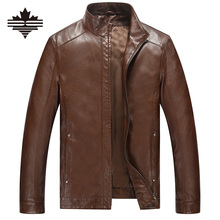 2017 Casual Mens Leather Jackets And Coats Standing Collar Male Leather Jacket Solid Color Faux Leather For Men's Winter Jackets(China (Mainland))