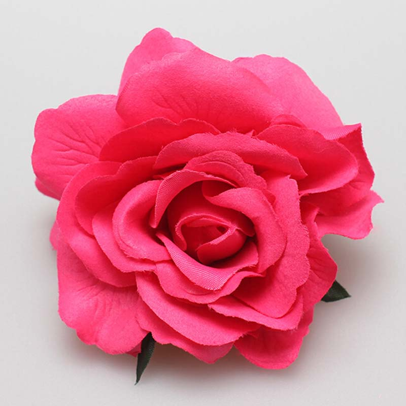 New Arrival 1PC deep pink 2016 1PC Rose Flower Hair Clip Hairpin Brooch Bridesmaid Party Wedding Accessories(China (Mainland))