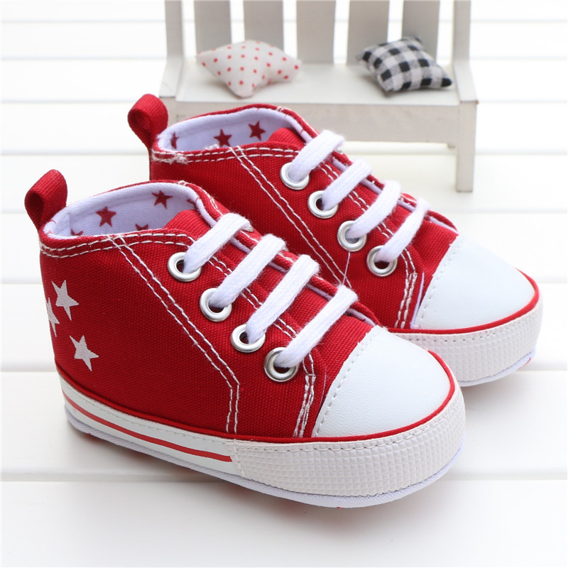 0-18Month Canvas Star Baby Shoes Boys' Sneakers Soft Sole Infant Girls Shoes Tennis Newborn Boys' First Walkers Chaussure Garcon(China (Mainland))