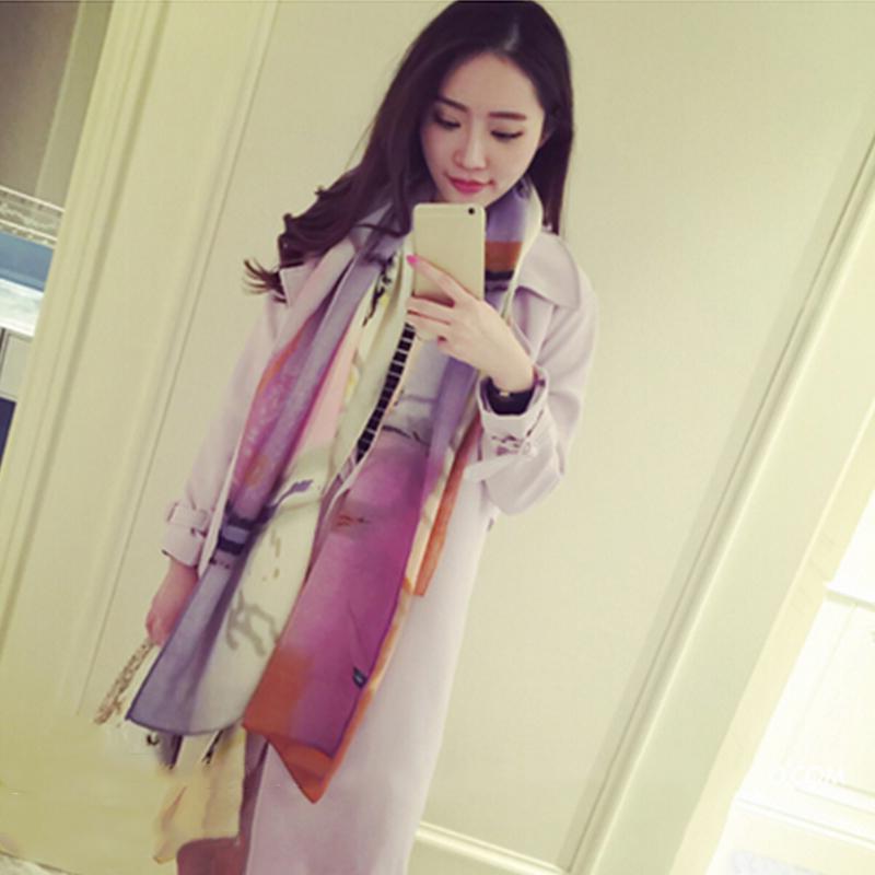 Hot Fashion Women Unique Perfume Bottle Print Design Gradient Color Soft Cotton Long Scarf Shawl 3 Colors #73317(China (Mainland))