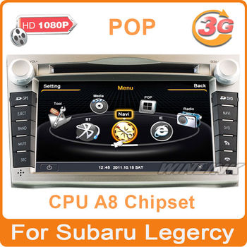 Free Shipping New A8 Chipset Special Car Stereo Auto DVD player GPS navigation for Subaru Legarcy Outback Support 3G/WiFi/1080P