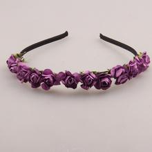 2015 Cute Rose Flower Crown Festival Headband Headwear Wedding Garland Floral Hairband Accessories