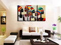 African lady sexy photo 3 piece decorative abstract hand painted wall art oil painting on canvas