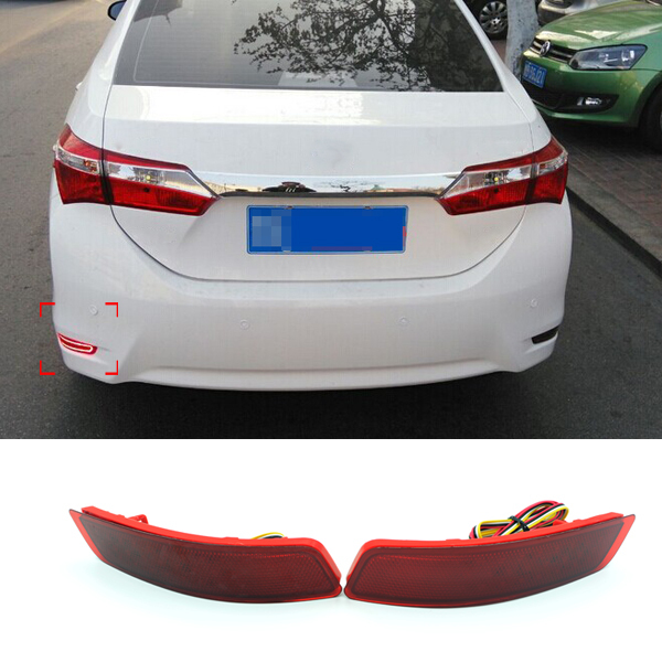 New Car Styling Rear Bumper LED Warning Brake Light Toyota Corolla 2014 2015 2016 Auto Parts High quality