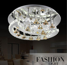 AC100 240V 33W 55 15cm Lustres led moonl LED crystal chandelier lights Modern minimalist stainless steel