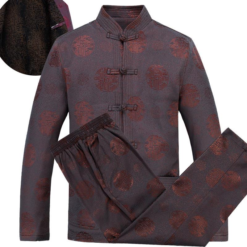 2015 Winter Plus Velvet Vintage Tang Suit Tops Traditional Chinese Cotton Men Coat &amp; Jacket Mandarin Collar Kung Fu Jackets 4XLОдежда и ак�е��уары<br><br><br>Aliexpress