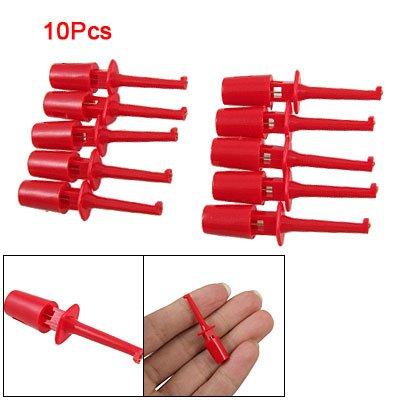 PHFU!Red Multimeter Lead Wire Test Hooks Clip Set 10 Pcs<br><br>Aliexpress