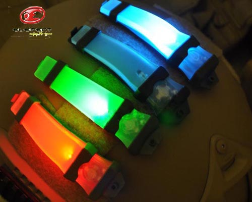 2pcs/lot Element E-Lite Blink Signal Light Two Mode Outdoor Sport Tactical Waterproof Helmet Light Survival Lamp for NVG User