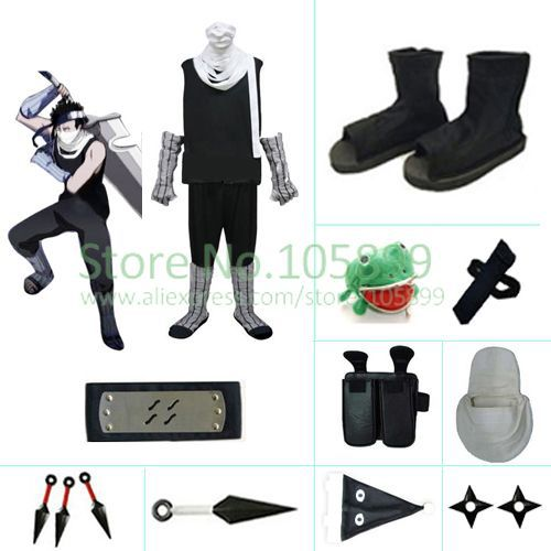Zabuza Halloween Cosplay Costume set from Naruto