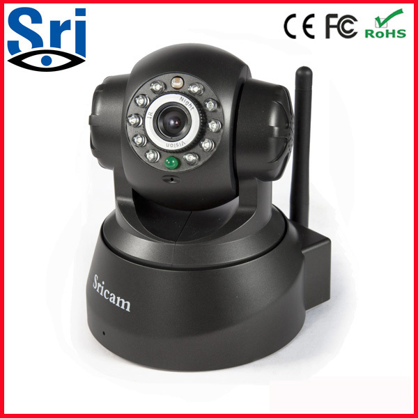 Sricam AP001 P2P IP Camer Pan-tilt WiFi Survive CCTV IP Security Camera Wireless P2P Camera Support iPhone Andriod view(China (Mainland))