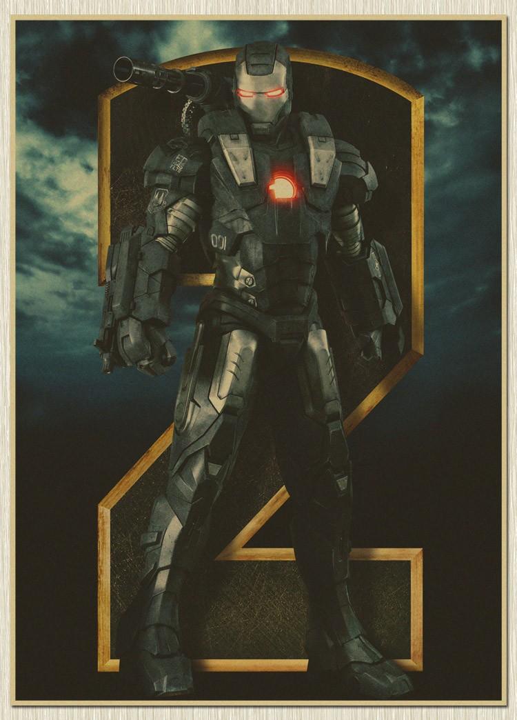 Nostalgia Iron man Movie Poster retro craft Paper The cuadros bar pub drawing Marvel Wall Sticker(China (Mainland))