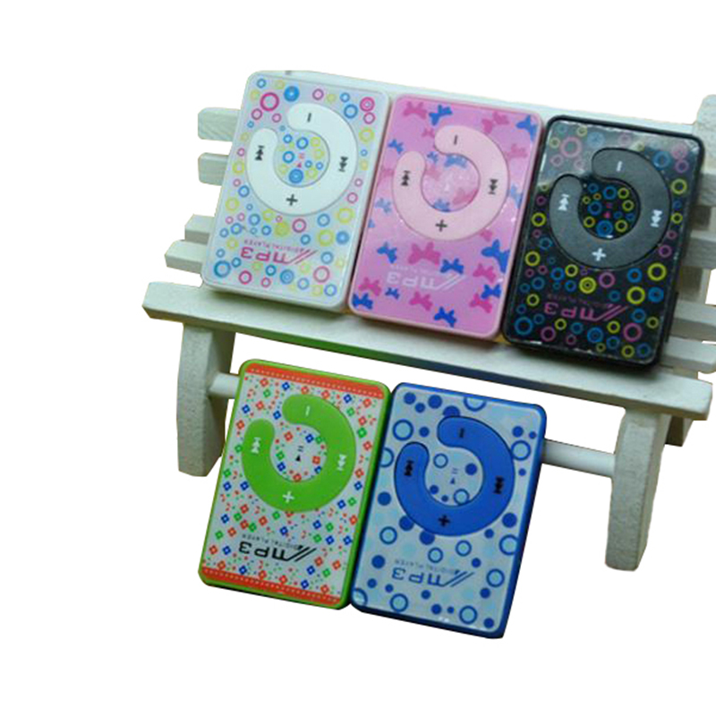 Hot Worldwide Print Mini Clip MP3 Music Player with Micro TF/card Slot 5 Colors Mini MP3 Player Like For ipod touch 5(China (Mainland))