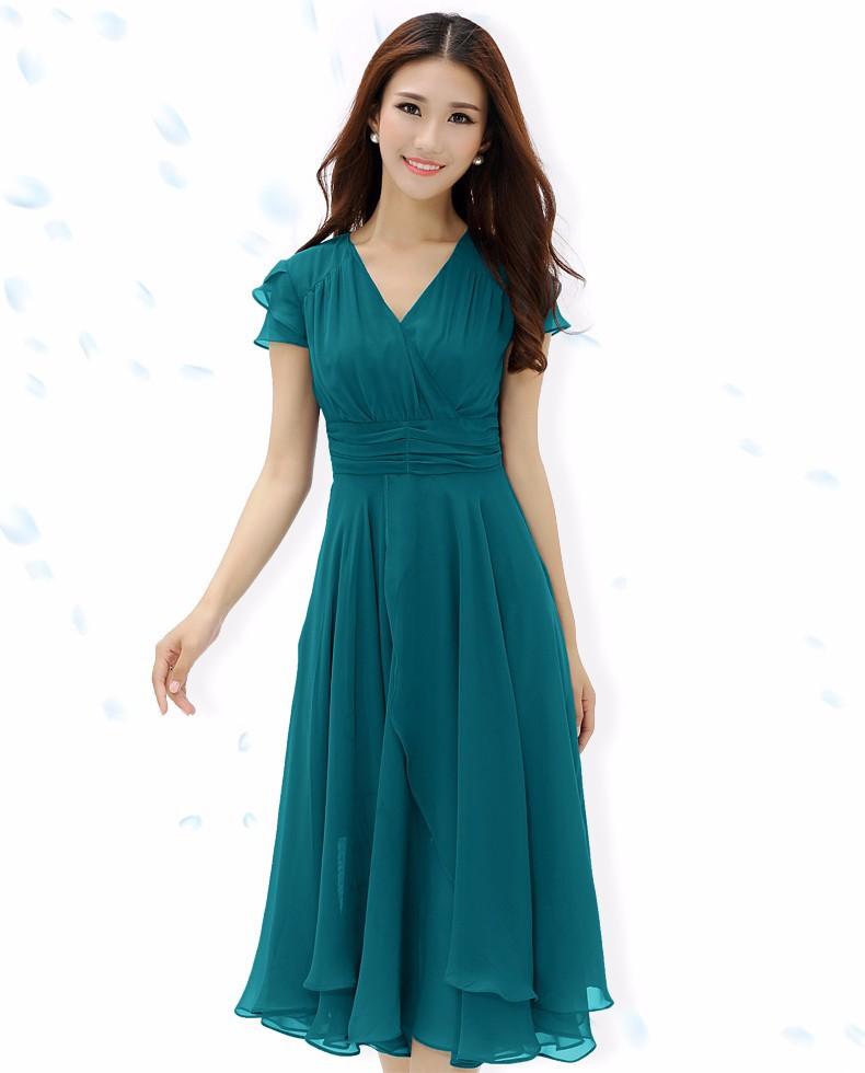 Фото шифоновые платья с коротким рукавом