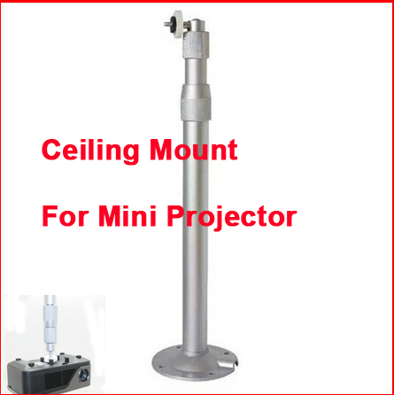 Aluminum Alloy Universal Wall Ceiling Mount Hanger Bracket For Mini Beamer DLP LED Projector 30 to 60 cm Telescopic Tength <br><br>Aliexpress