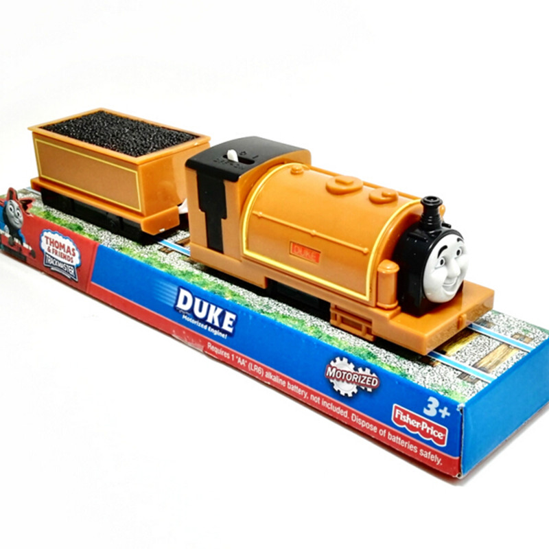 Electric Thomas and friend DUKE with one carriage Trackmaster engine Motorized train Chinldren kids toys with package(China (Mainland))
