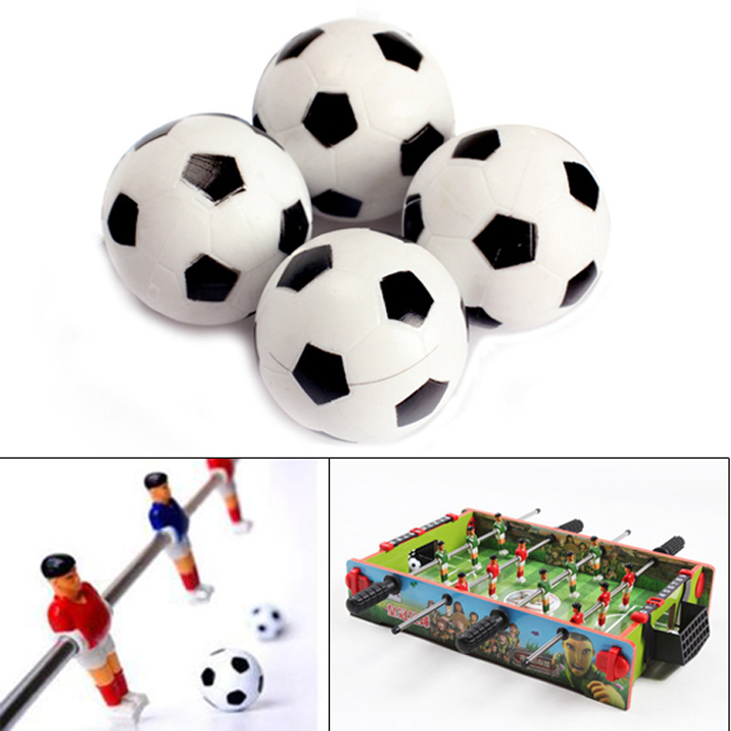 New 4pcs 32mm Plastic Soccer Table Foosball Ball Football Durable Table Game Accessories EA14(China (Mainland))